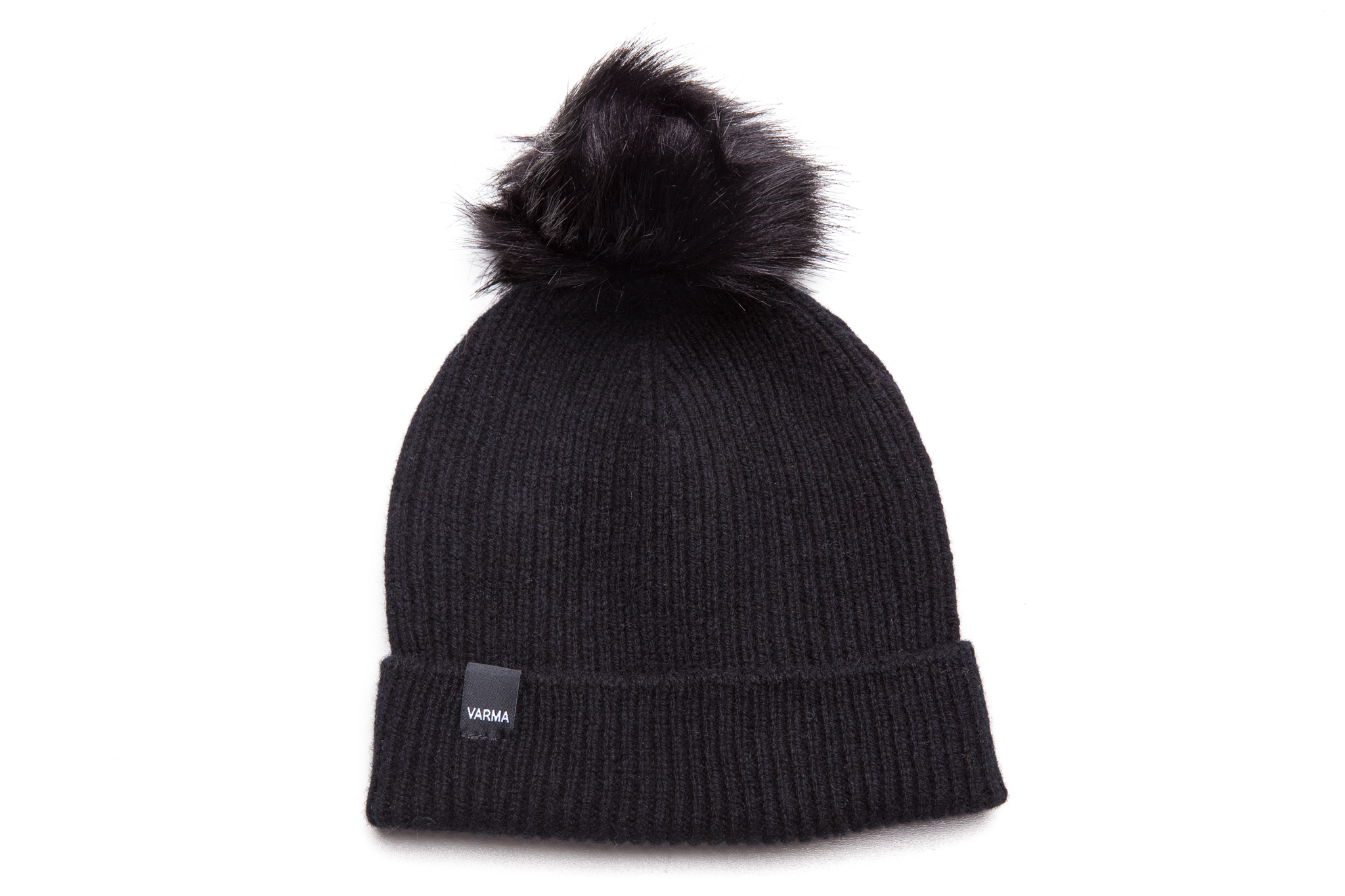 huge discount 71102 3b894 Beanie with faux fur pom - VARMA Clothing ...