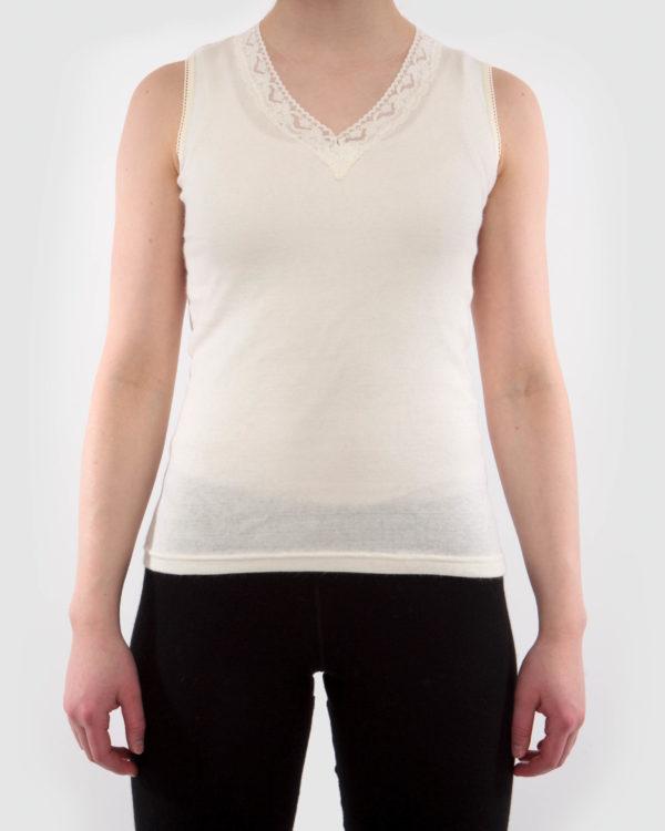 ea6a2deba3e Women sleeveless undershirt with lace